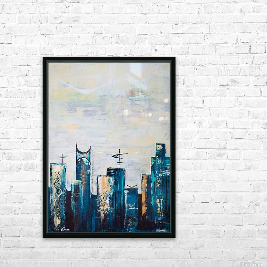 Uptown IX  HD Sublimation Metal print with Decorating Float Frame (BOX)