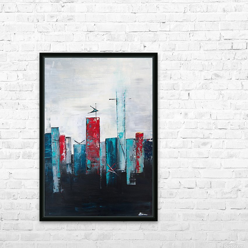 Uptown IV HD Sublimation Metal print with Decorating Float Frame (BOX)