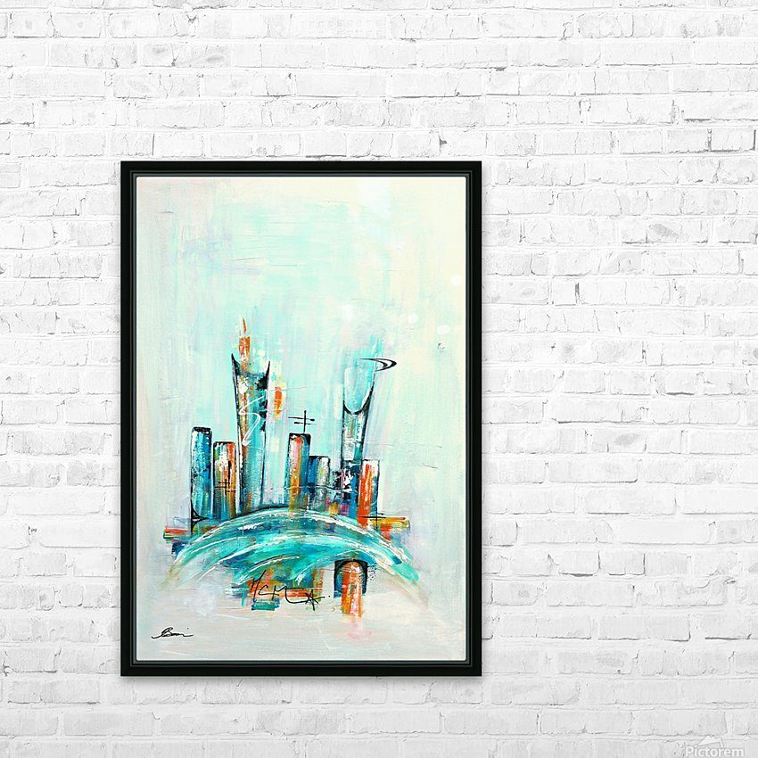 Uptown XX HD Sublimation Metal print with Decorating Float Frame (BOX)