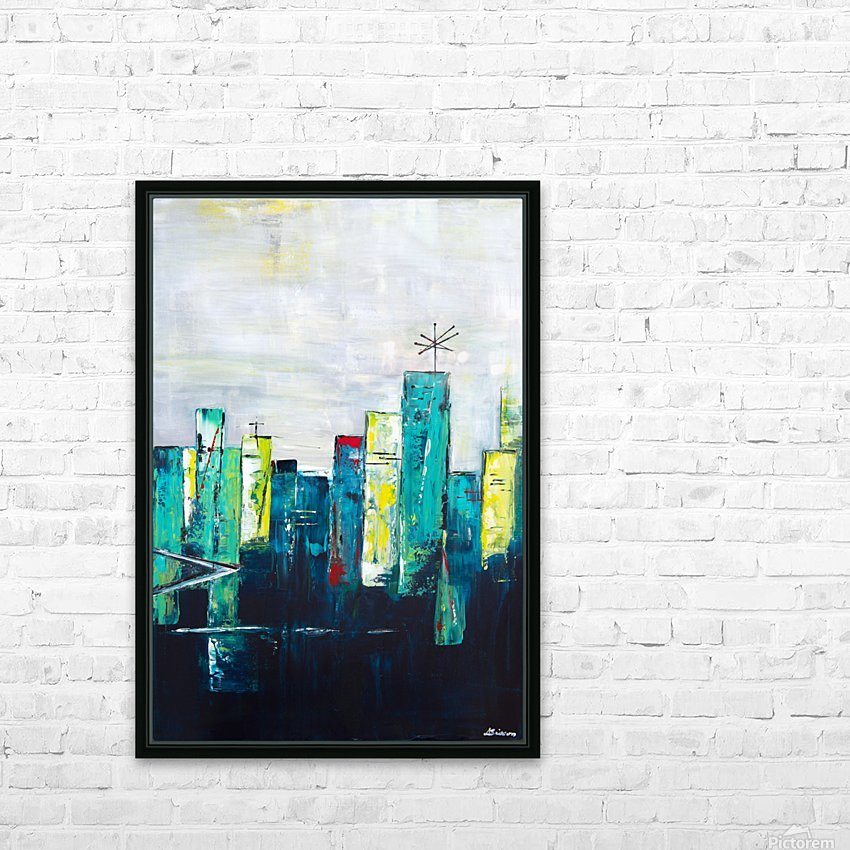 Uptown XVII HD Sublimation Metal print with Decorating Float Frame (BOX)