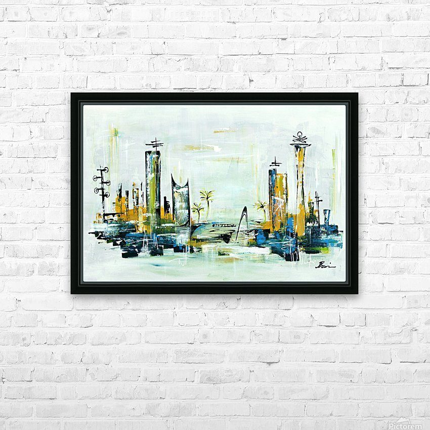 Uptown XXIII HD Sublimation Metal print with Decorating Float Frame (BOX)
