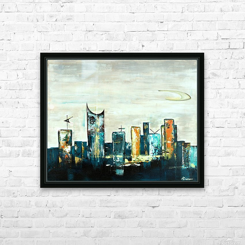 Uptown V HD Sublimation Metal print with Decorating Float Frame (BOX)