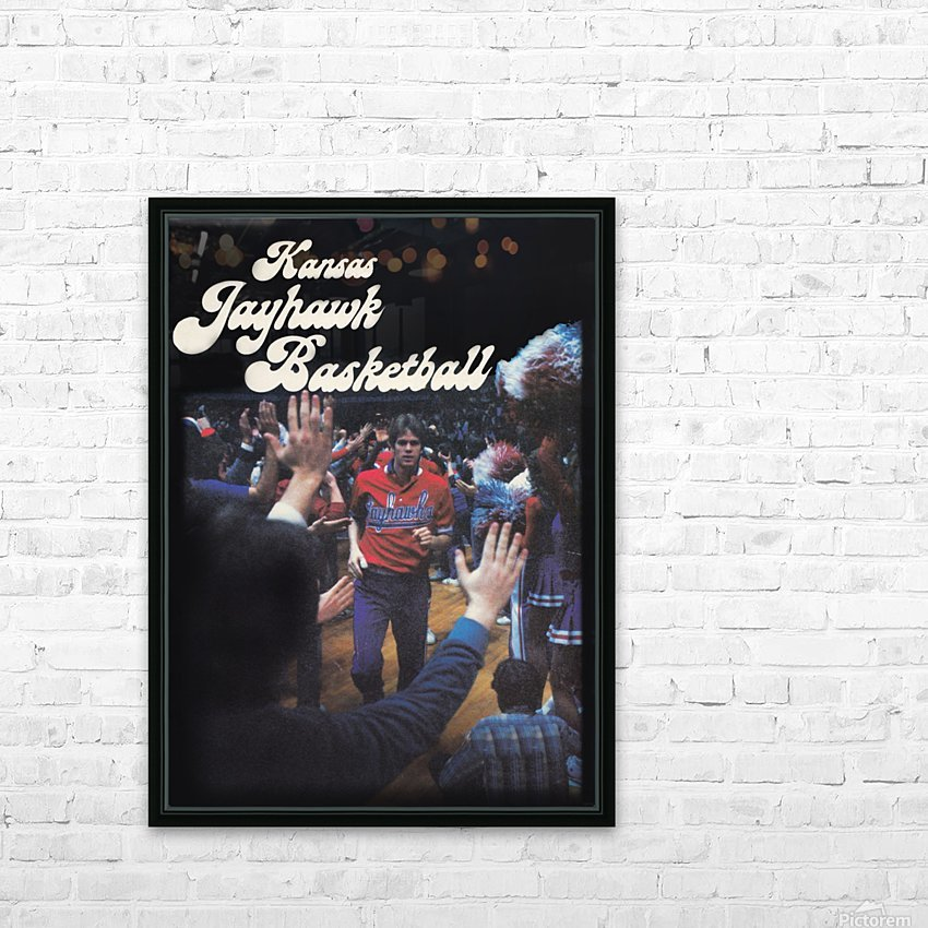 vintage kansas jayhawks basketball poster ku 1982 HD Sublimation Metal print with Decorating Float Frame (BOX)