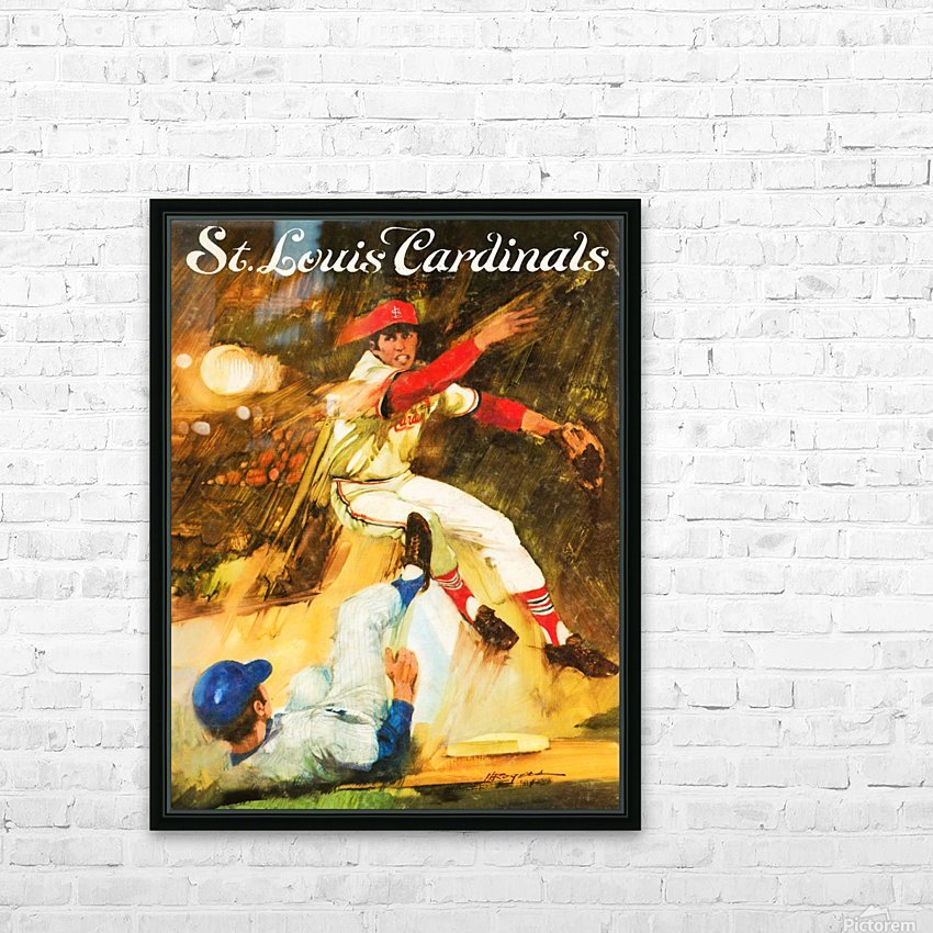 1972 St. Louis Cardinals HD Sublimation Metal print with Decorating Float Frame (BOX)