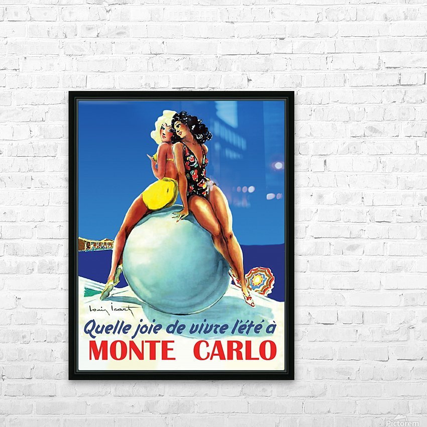 Monte carlo HD Sublimation Metal print with Decorating Float Frame (BOX)