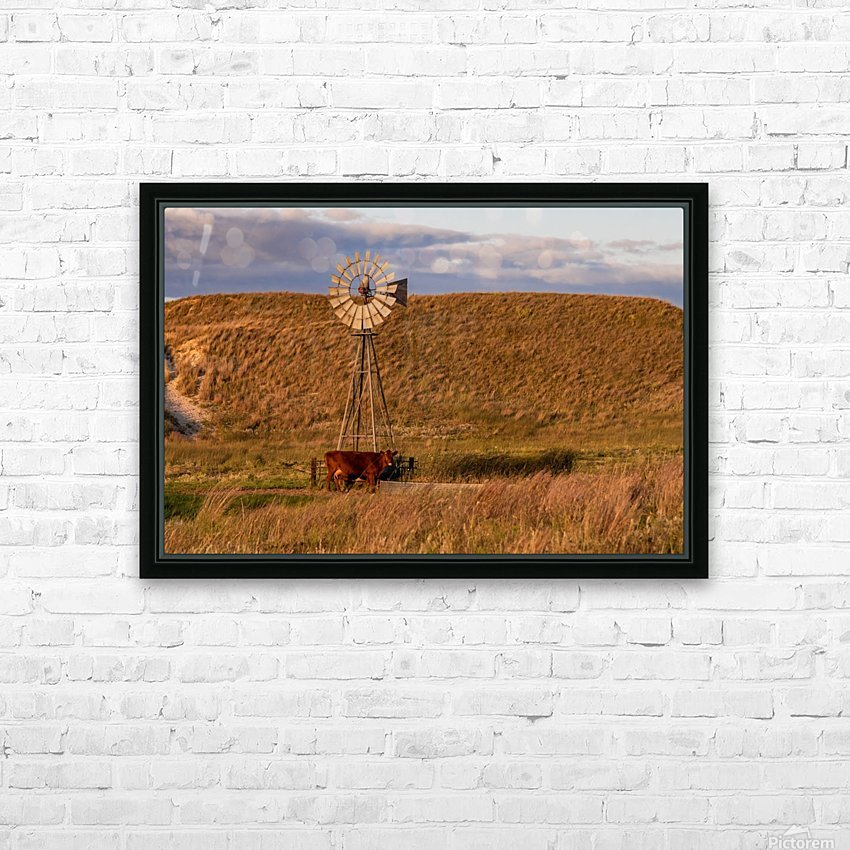 Late Afternoon Drink In The Sandhills HD Sublimation Metal print with Decorating Float Frame (BOX)