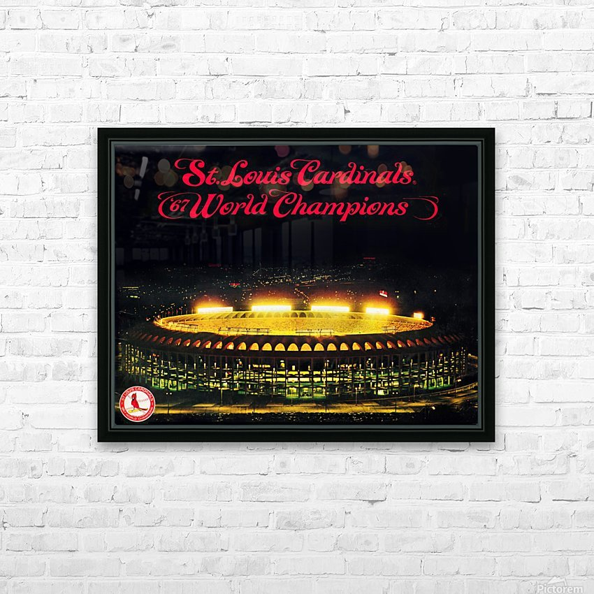 1967 Cardinals World Series Champions Poster Baseball Art Wood Prints HD Sublimation Metal print with Decorating Float Frame (BOX)