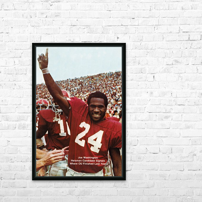 1974 oklahoma sooners football national champions poster sports wall art HD Sublimation Metal print with Decorating Float Frame (BOX)