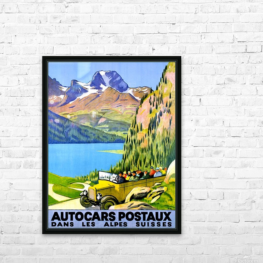 Swiss Alps by Car HD Sublimation Metal print with Decorating Float Frame (BOX)