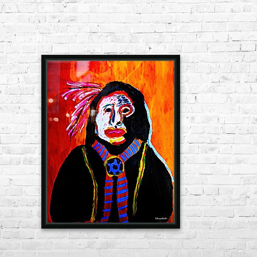 Masked Indian HD Sublimation Metal print with Decorating Float Frame (BOX)