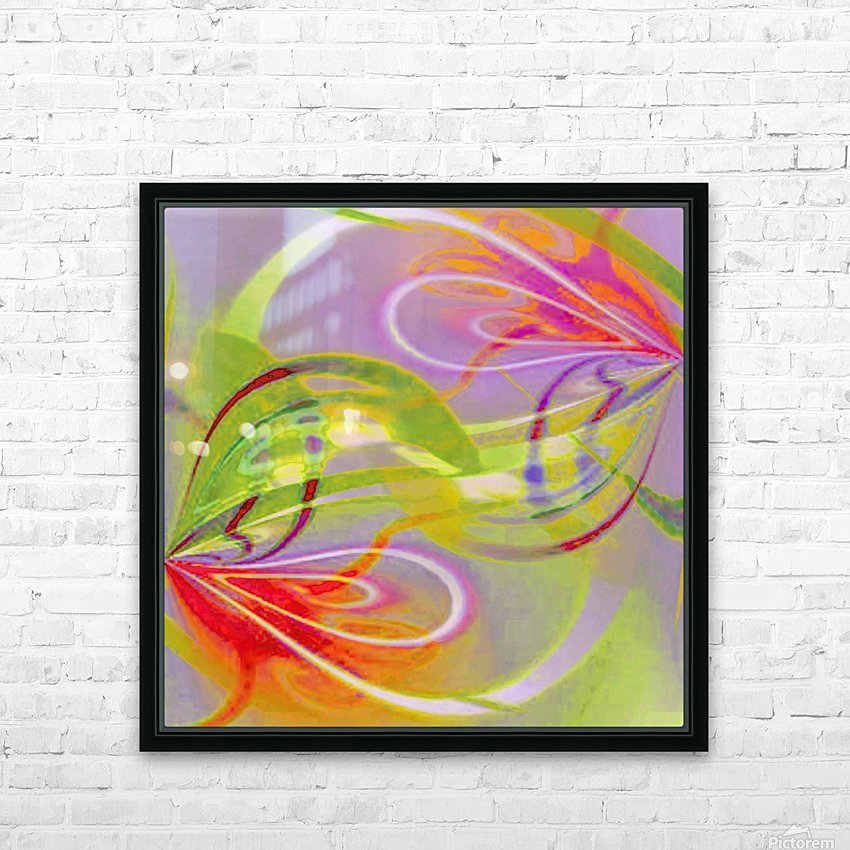 Infinity Painting Green HD Sublimation Metal print with Decorating Float Frame (BOX)
