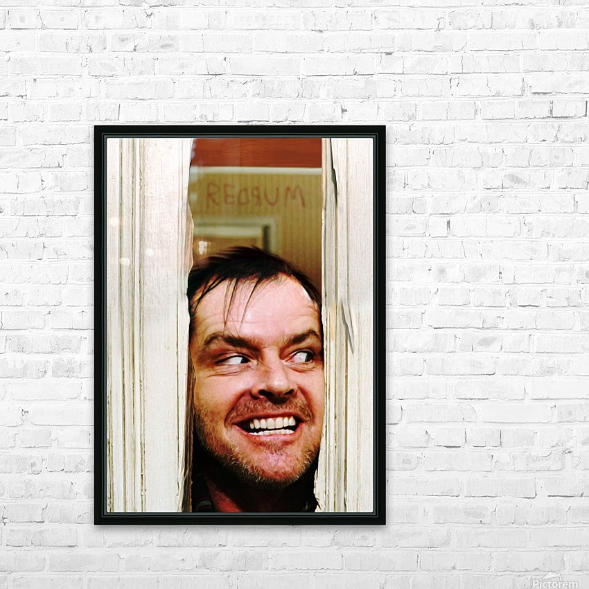 Heres Johnny HD Sublimation Metal print with Decorating Float Frame (BOX)