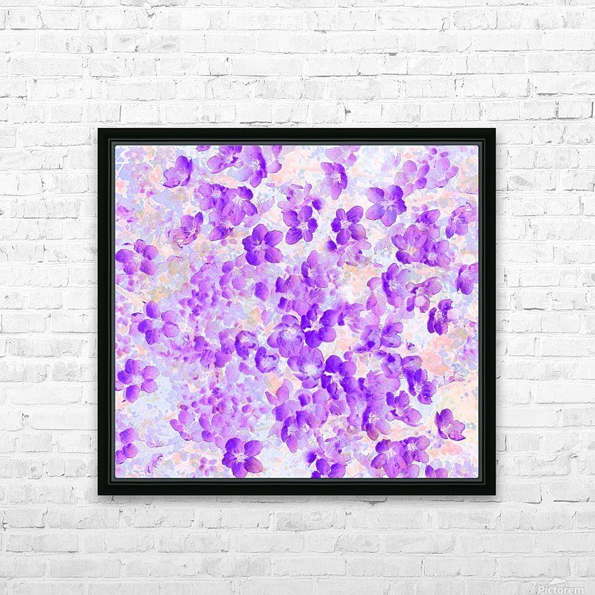 Purple Spring Flowers HD Sublimation Metal print with Decorating Float Frame (BOX)