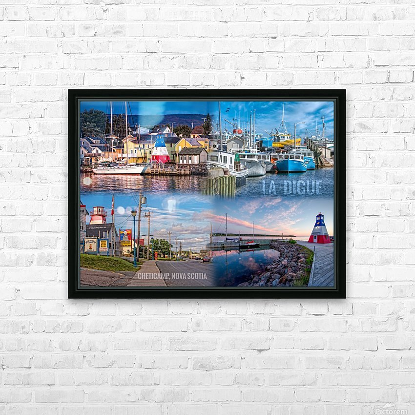 Cheticamp Collage HD Sublimation Metal print with Decorating Float Frame (BOX)