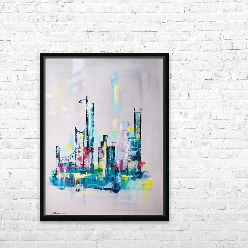 Uptown HD Sublimation Metal print with Decorating Float Frame (BOX)