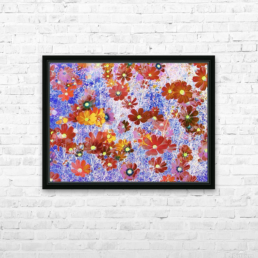 Cosmos Flowers Brown HD Sublimation Metal print with Decorating Float Frame (BOX)
