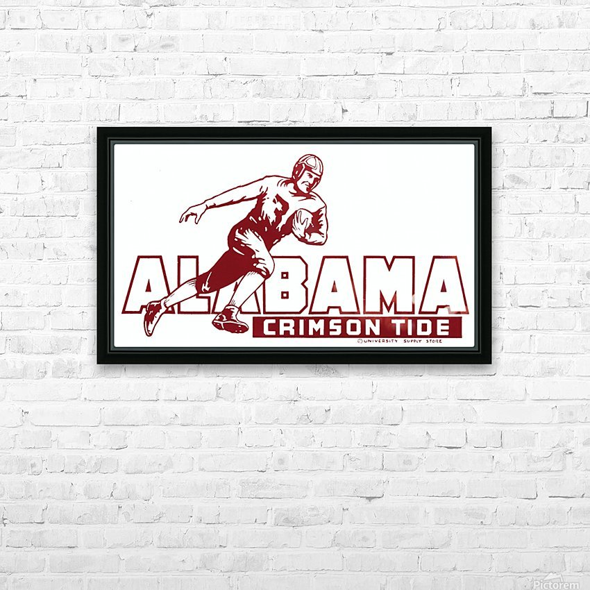 row one brand vintage alabama football crimson tide wood sign HD Sublimation Metal print with Decorating Float Frame (BOX)