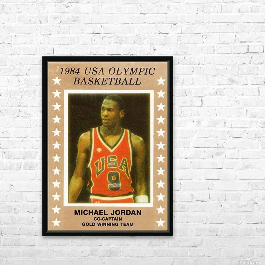 1984 USA Olympic Basketball Michael Jordan HD Sublimation Metal print with Decorating Float Frame (BOX)