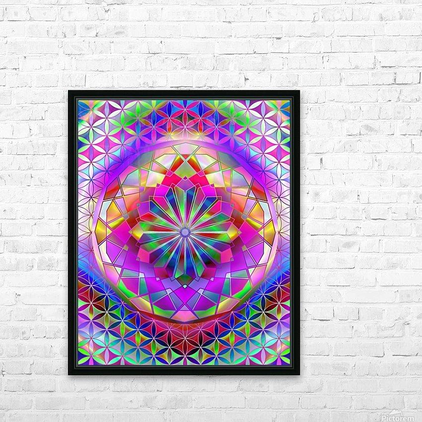 Crystal Flower Mandala HD Sublimation Metal print with Decorating Float Frame (BOX)