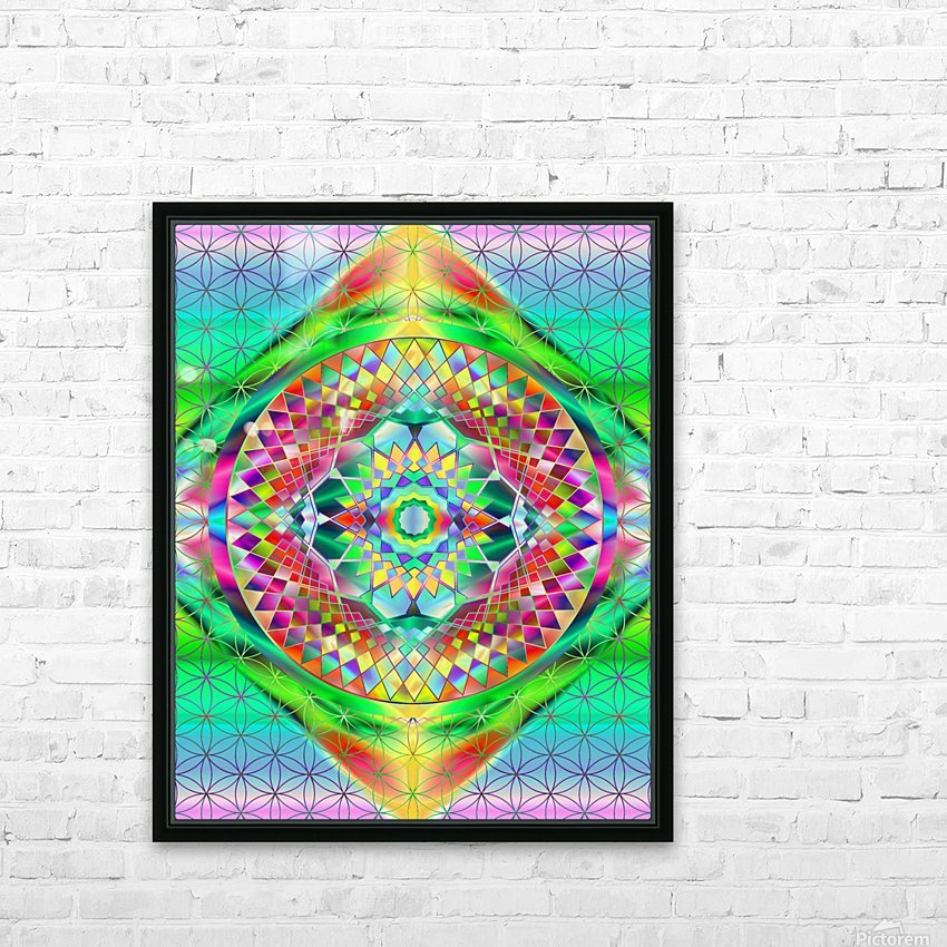Vintage Green Mandala HD Sublimation Metal print with Decorating Float Frame (BOX)