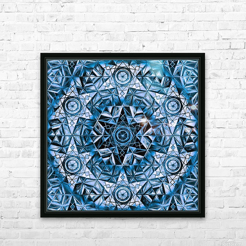 Sacred Geometry Handdrawing Pattern HD Sublimation Metal print with Decorating Float Frame (BOX)