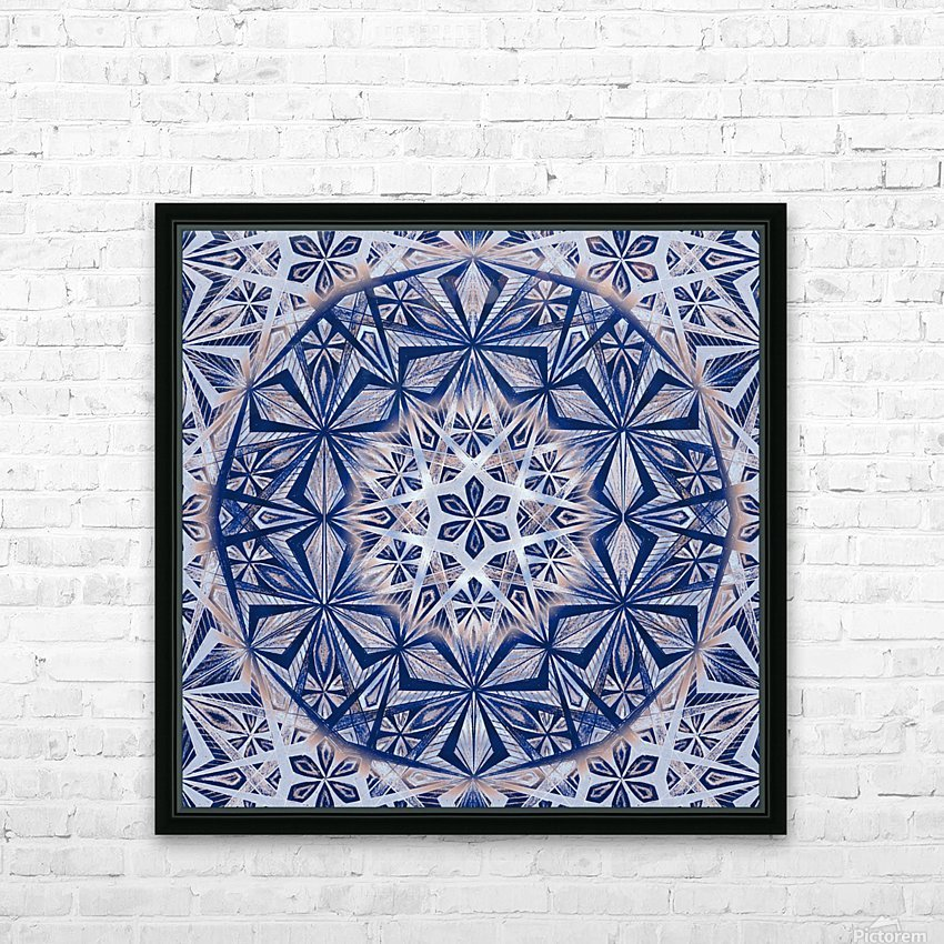 Vintage Kaleidoscope Handdrawing HD Sublimation Metal print with Decorating Float Frame (BOX)