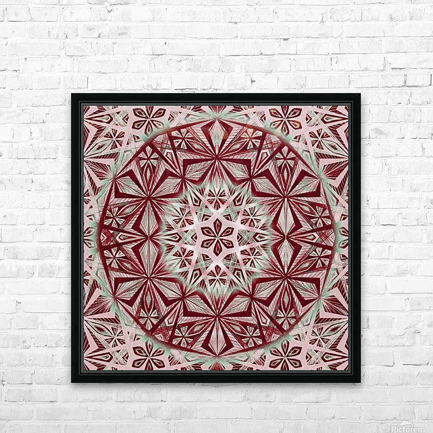 Vintage Star Caleidoscope Handdrawing HD Sublimation Metal print with Decorating Float Frame (BOX)