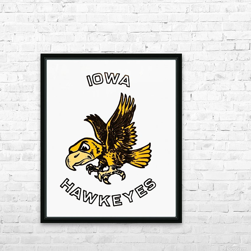 Vintage Iowa Hawkeyes Art HD Sublimation Metal print with Decorating Float Frame (BOX)