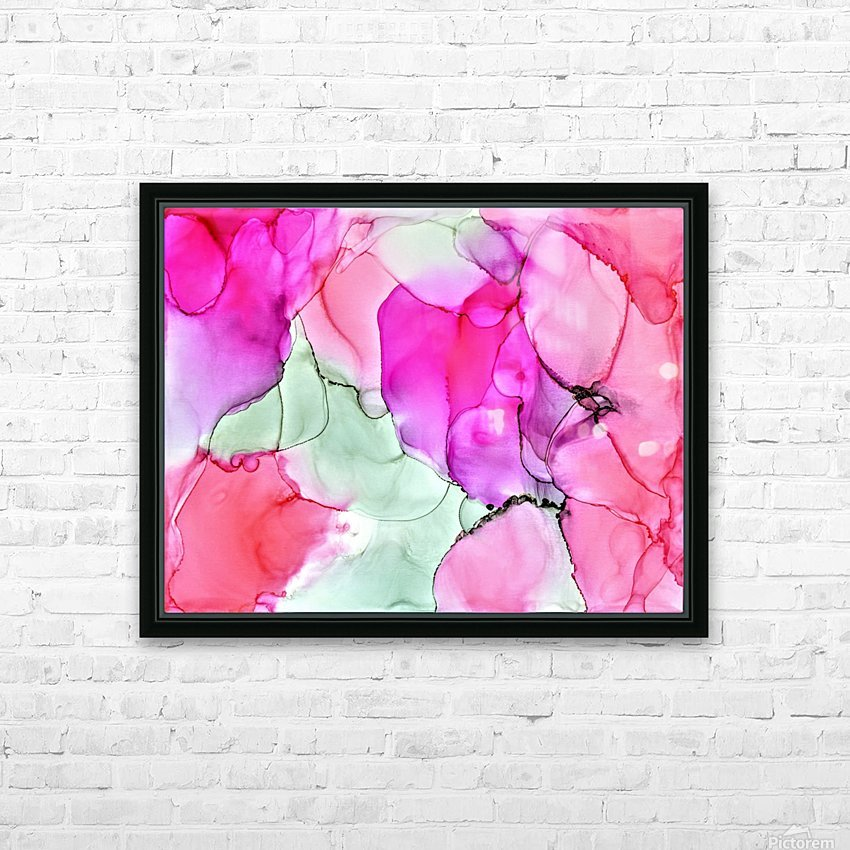Happiness in Pink HD Sublimation Metal print with Decorating Float Frame (BOX)