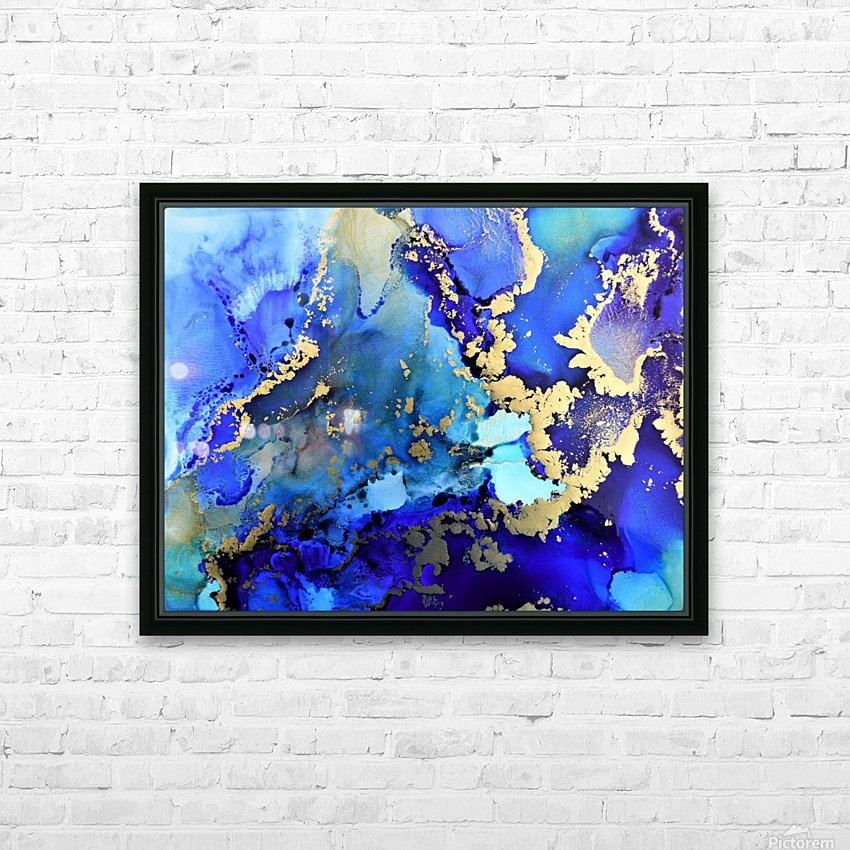 Starlight in Blue HD Sublimation Metal print with Decorating Float Frame (BOX)