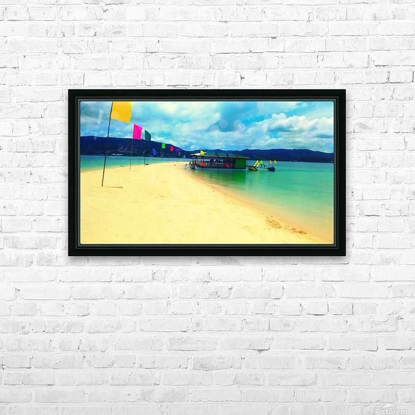 Sandbar HD Sublimation Metal print with Decorating Float Frame (BOX)