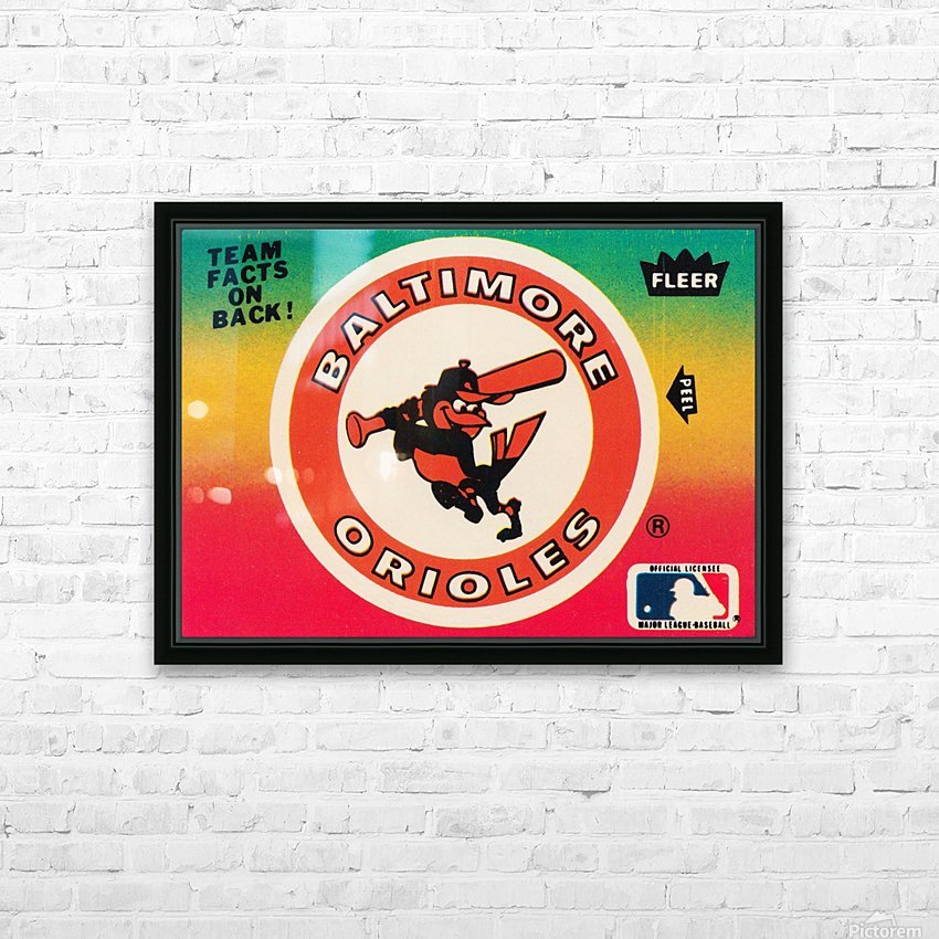 1983 fleer baseball stickers baltimore orioles wood print HD Sublimation Metal print with Decorating Float Frame (BOX)