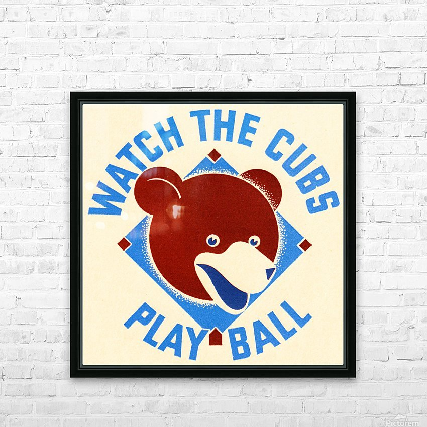 1940_Major League Baseball_Chicago Cubs HD Sublimation Metal print with Decorating Float Frame (BOX)