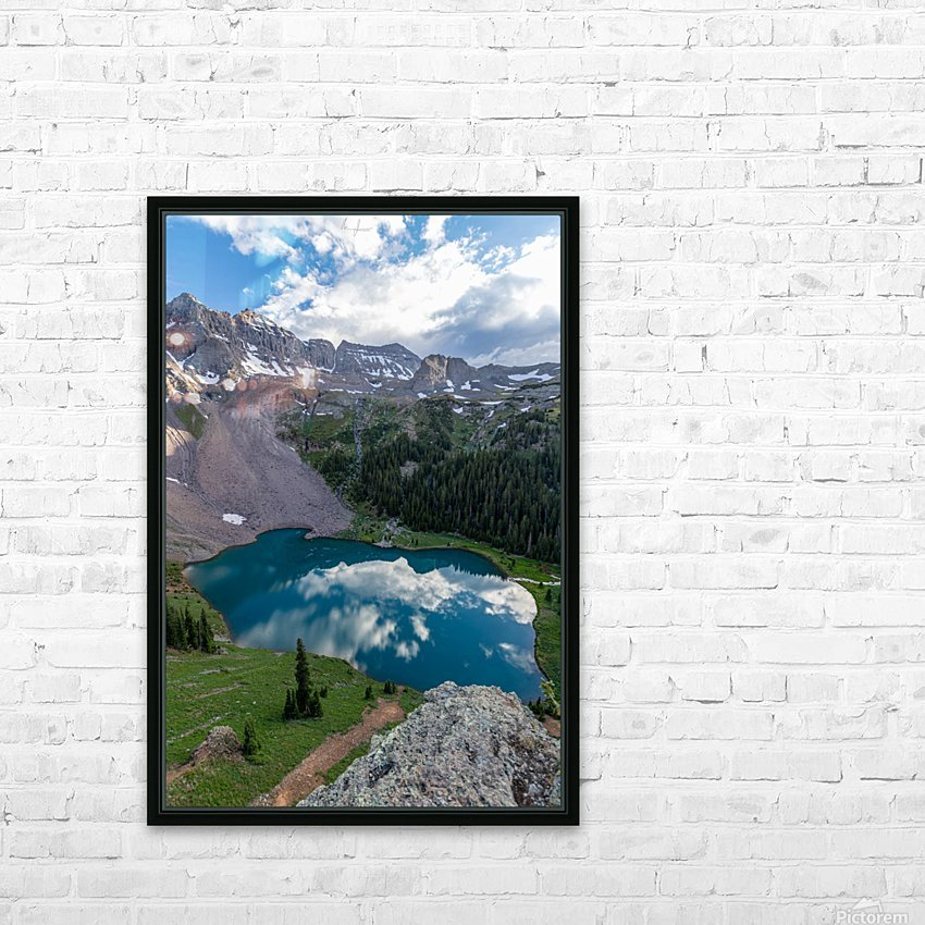 Dreaming in Blues HD Sublimation Metal print with Decorating Float Frame (BOX)