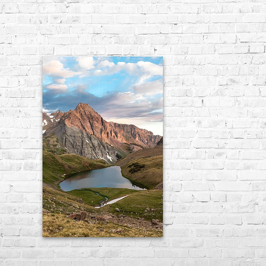 Sunrise on the Mountain HD Sublimation Metal print with Decorating Float Frame (BOX)