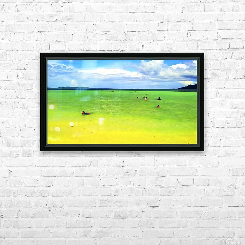 Color of summer HD Sublimation Metal print with Decorating Float Frame (BOX)