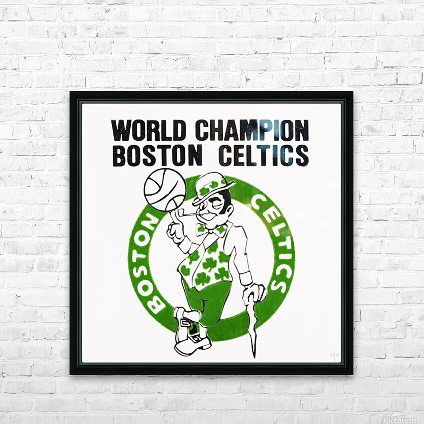 1981 Boston Celtics World Champions Art Reproduction HD Sublimation Metal print with Decorating Float Frame (BOX)