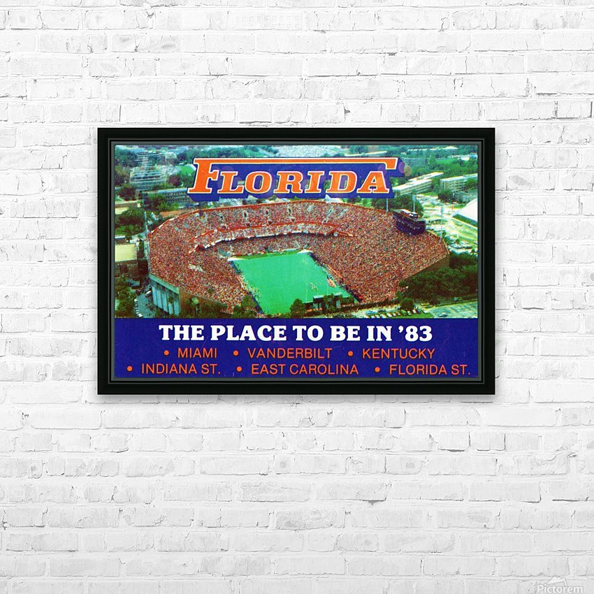 1983 college football florida gators place to be in 83 HD Sublimation Metal print with Decorating Float Frame (BOX)