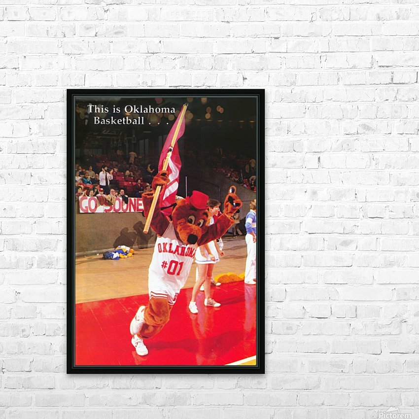 billy tubbs era top daug oklahoma sooners basketball poster prints on wood HD Sublimation Metal print with Decorating Float Frame (BOX)