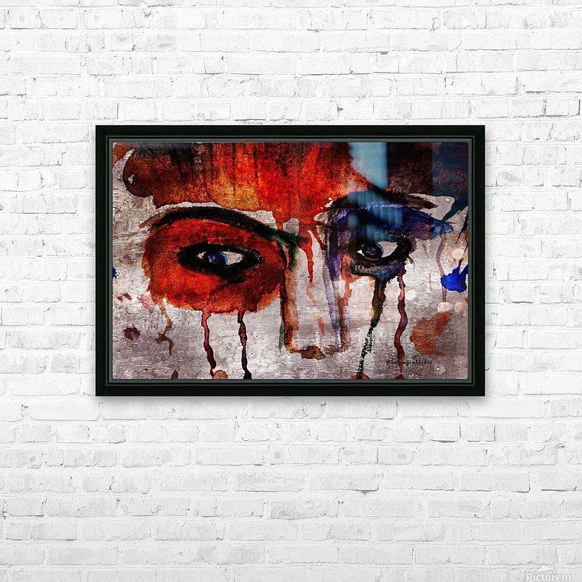 Life through her eyes HD Sublimation Metal print with Decorating Float Frame (BOX)