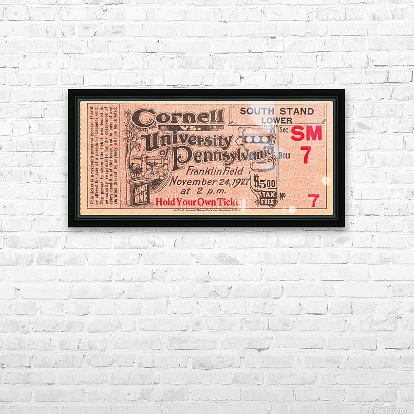 1927 cornell penn ivy league football ticket stub collection HD Sublimation Metal print with Decorating Float Frame (BOX)