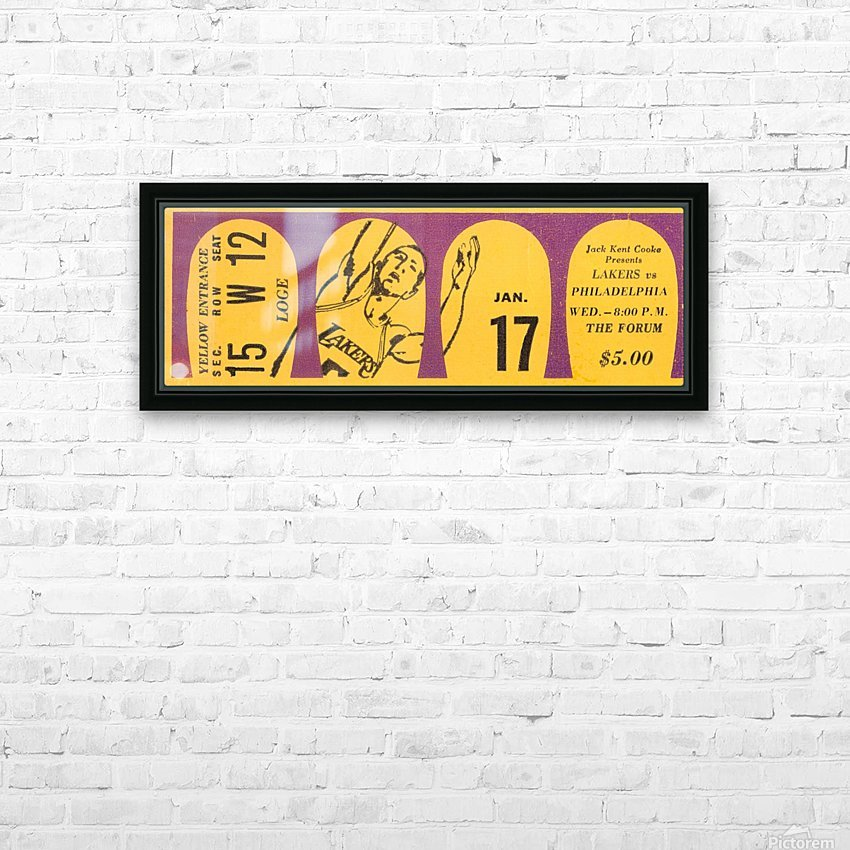 1968 LA Lakers  HD Sublimation Metal print with Decorating Float Frame (BOX)