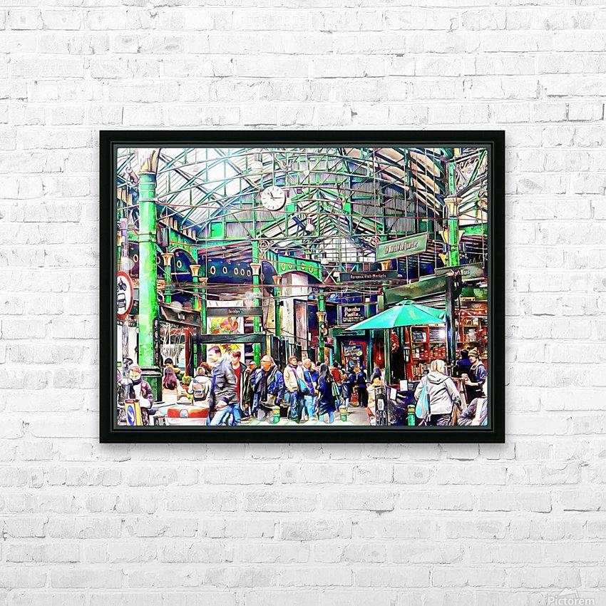 Borough Market London HD Sublimation Metal print with Decorating Float Frame (BOX)