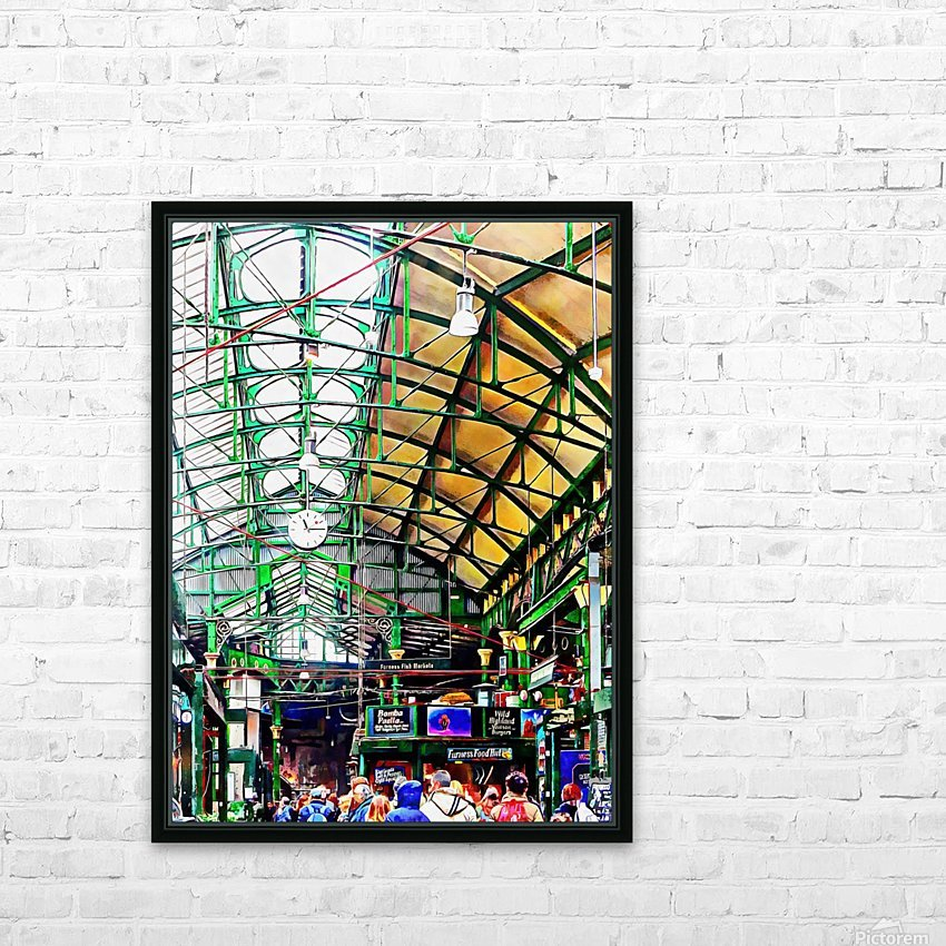 Roof Over Borough Market HD Sublimation Metal print with Decorating Float Frame (BOX)