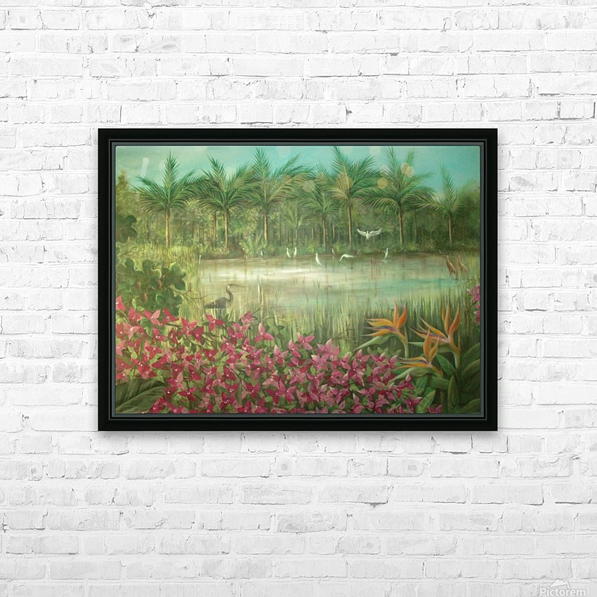 marshes  HD Sublimation Metal print with Decorating Float Frame (BOX)