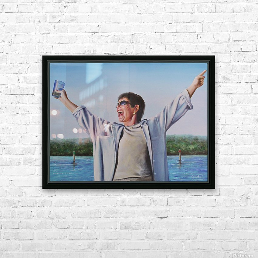 GAIL HD Sublimation Metal print with Decorating Float Frame (BOX)