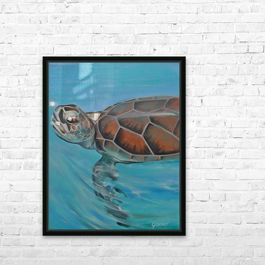 turtle HD Sublimation Metal print with Decorating Float Frame (BOX)