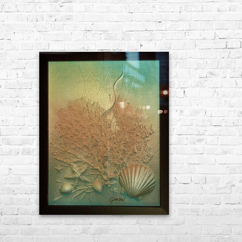 Coral Image Art HD Sublimation Metal print with Decorating Float Frame (BOX)