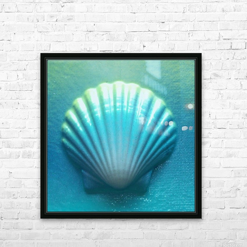 Blue Shell HD Sublimation Metal print with Decorating Float Frame (BOX)
