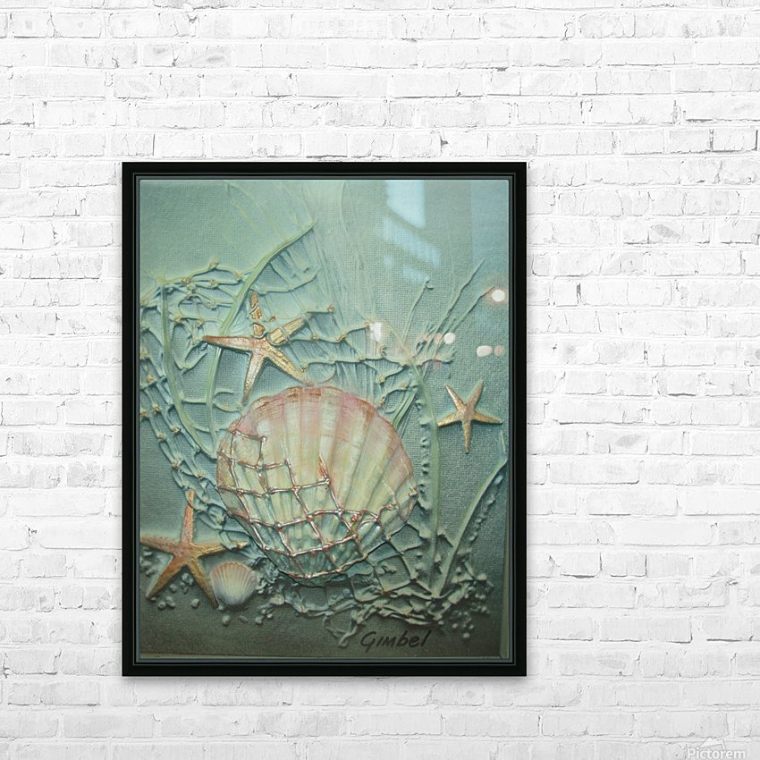 Starfish Image Art HD Sublimation Metal print with Decorating Float Frame (BOX)